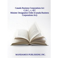 Minister Designation Order (Canada Business Corporations Act)