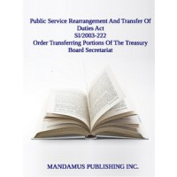 Order Transferring Portions Of The Treasury Board Secretariat To The Public Service Human Resources Management Agency Of Canada
