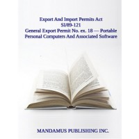 General Export Permit No.ex.18 — Portable Personal Computers And Associated Software