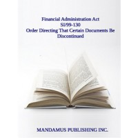 Order Directing That Certain Documents Be Discontinued