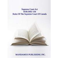 Rules Of The Supreme Court Of Canada