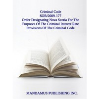 Order Designating Nova Scotia For The Purposes Of The Criminal Interest Rate Provisions Of The Criminal Code