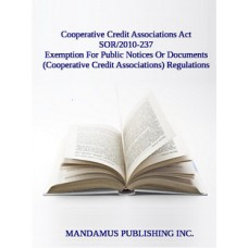 Exemption For Public Notices Or Documents (Cooperative Credit Associations) Regulations