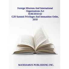 G20 Summit Privileges And Immunities Order, 2010