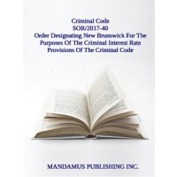 Order Designating New Brunswick For The Purposes Of The Criminal Interest Rate Provisions Of The Criminal Code