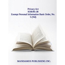 Exempt Personal Information Bank Order, No. 5 (Nd)