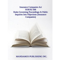 Rules Governing Proceedings At Public Inquiries Into Objections (Insurance Companies)