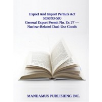 General Export Permit No. Ex 27 — Nuclear-Related Dual-Use Goods