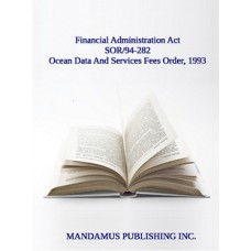 Ocean Data And Services Fees Order, 1993