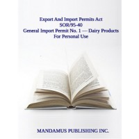 General Import Permit No. 1 — Dairy Products For Personal Use