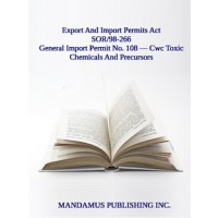 General Import Permit No. 108 — Cwc Toxic Chemicals And Precursors