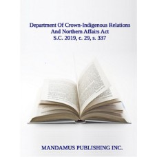 Department Of Crown-Indigenous Relations And Northern Affairs Act