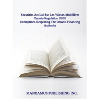 Exemptions Respecting The Ontario Financing Authority