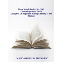 Delegation Of Regulation-making Authority To The Minister