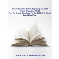 Fees For Central Bargaining For The 2015-2016 School Board Fiscal Year