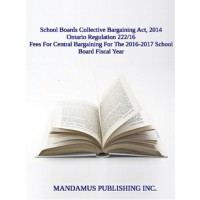 Fees For Central Bargaining For The 2016-2017 School Board Fiscal Year