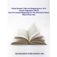 Fees For Central Bargaining For The 2018-2019 School Board Fiscal Year