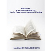 Fees For Transcripts And Statements Of Standing